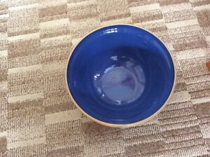 VINTAGE Mason And Cash Mixing Bowl 18cm. UNUSUAL BLUE INTERIOR MADE IN ENGLAND