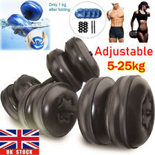 Water Filled Dumbbells Pair 5-25kg Adjustable Travel Dumbbells Fitness Exercise
