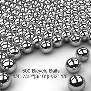 "500 Piece Assorted Loose Bicycle Bearing Balls 1/8"", 5/32"", 3/16"" 7/32"" & 1/4"""