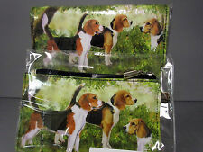 New Beagle Dog Zippered Pouch & Check Book Wallet  Ruth Maystead 3 Beagles Dogs