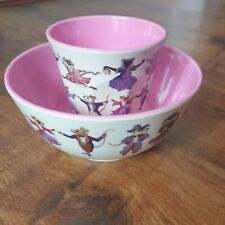 Emma Bridgewater Melamine Dancing Mice Bowl and cup, pre-owned,very good.