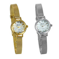 Women's Ladies Simple Elegant Slim Mesh Band Bracelet Analog Quartz Wrist Watch
