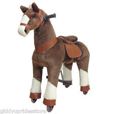 Brown Giddy Up Horse Ride-on. For boys & girls age 4-10 yrs (02F) - BRAND NEW