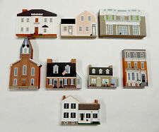 The Cat's Meow Village Houses Lot of 8 Exclusive Collector's Club