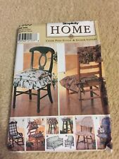 Simplicity 7966 Home Decor Chair Pads & Glider Covers Uncut