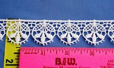 "Bridal Lace Guipure Cotton Venice Lace Edging Picot Edge 1"" White 5 yds #W99"