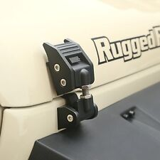 Rugged Ridge 11210.11 Pair of Textured Black Hood Catches Wrangler JK 2007-2017