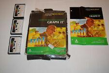 Graph It Atari 400 800 Program CX4109 Cassette Complete in Box