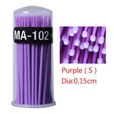 100x Disposable Eyelash Extension Applicator Mascara Brush Glue Cleaning Stick a Purple ( S )