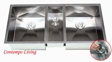 "42"" Stainless Steel Zero Radius Triple Bowl Undermount Kitchen Sink"