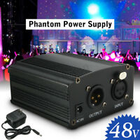 DC48V Phantomspeisung Power Supply mit Adapter für Kondensator Mikrofone US Plug