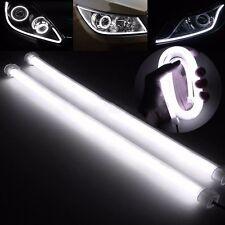 2X 60cm LED Car DRL Daytime Running Fog Strip Lamp Flexible Soft Tube Headlight