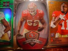 PATRICK WILLIS 49ERS 2012 TOPPS GAME TIME GIVEAWAY DIE-CUT FOOTBALL CARD #17