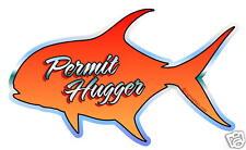 "DECAL - ""Permit Hugger"" Fly Fishing Salt water sticker"