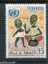 MONACO 1963, timbre 605, CHARTE DES ENFANTS, EMBLEME NATIONS UNIES, neuf**, MNH