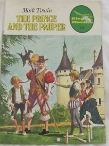 Illustrated Classics The Prince and the Pauper by Mark Twain: King Classics 1978