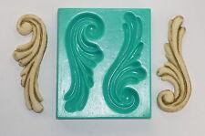 Silicone mold mould sugarcraft cake decoration sugarcraft roman scroll (6006)