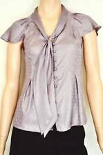 Career Polka Dot Button Down Shirt Machine Washable Tops & Blouses for Women