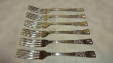Vintage/Retro Heavy Set Of 6 Silver Plated Dinner Forks - Tudor Rose Design