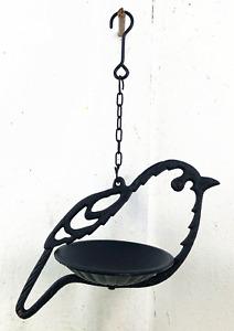 Cast Iron Wild Bird Shape Hanging Feeder Garden Decoration in 2 colours