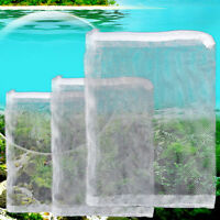1x Durable Nylon Mesh Aquarium Fish Tank Pond Filter Supplies Media Zip Bag AL
