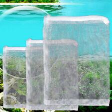 5x Nylon Mesh Aquarium Fish Tank Pond Filter Supplies Media Zip Net Bag ToolY Vo