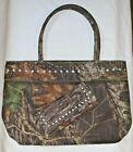 Mossy Oak, Camo with Rhinestones, Shoulder Bag & Wallet