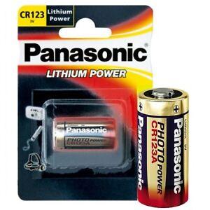50x Photobatterie von Panasonic CR123A Foto Batterien Lithium CR123 Blisterpack