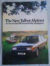 Talbot Alpine brochure Feb 1980