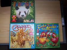 Spielekonvolut,3 Spiele des Jahres,Zooloretto, Camel up, Zicke Zacke Hühnerkacke