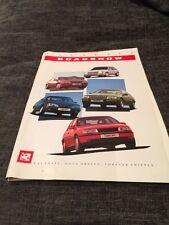 1989 Vauxhall Nova Astra Belmont Cavalier Carlton Senator Brochure