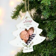 Personalised Christmas Tree Photo Bauble In Loving Memory Christmas Decoration