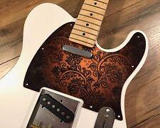 Custom Tobacco Burst Paisley Pickguard Fits Fender® Telecaster® Style 8 hole