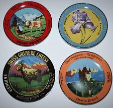 """BIA Cordon Bleu Cheese Brands Set of 4: 6.75"""" Porcelain Plates w/ Box"""
