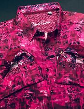 Robert Graham Large Shirt Mens Bayshore Magenta Floral Long Sleeve New $198