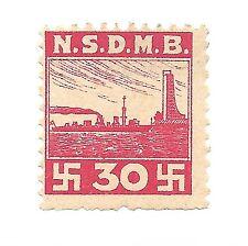 German NSDMB/Navy revenue stamp-MNH-Xrare-Germany,Nazi-era Nat Soc Marine Assoc