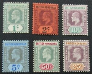 nystamps British Honduras Stamp # 62-68 MOGH    O22x2252