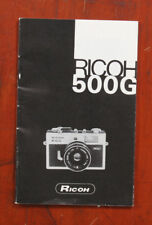 RICOH 500G INSTRUCTION BOOK/147985