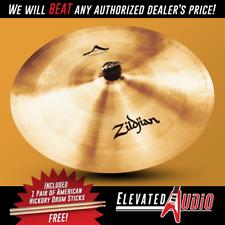 """Zildjian A 18"""" China High Cymbal + FREE American Hickory Drum Sticks!"""
