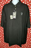 Beverly Hills Polo Club Mens Polo Shirt Black Short Sleeve Size 3XL New BH01