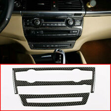 Real Carbon Fiber For BMW X5 X6 E70 E71 Console Air Conditioner & CD Panel Cover