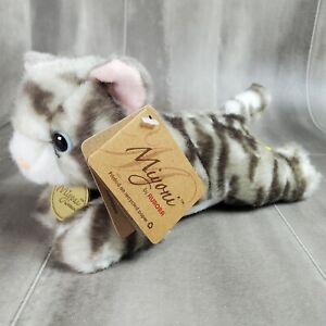 Miyoni by Aurora Kitten Plush Stuffed Animal Toy Grey Tabby Kitten 8in.