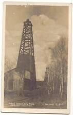 CZECHOSLOVAKIA SLOVAKIA GBELY RPPC 1928-1929 OIL RIG DERRICK PETROLEUM PLANT