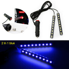 Blue 12V Car Interior LED Strip Lights Foot Atmosphere Light Cigarette Lighter