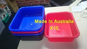 10X 9L  Rectangular Wash Basin Tub, Change Engin Oil Plastic Cleaning Tray