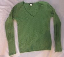 J Crew V neck Cashmere Wool blend pullover Sweater Green Extra Small Size XS