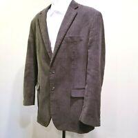 Chaps Mens Sz 44L Brown Corduroy Cotton Suit Jacket Blazer Sport Coat