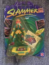 Vintage 1990's Mattel SLAMMERS NOC Skateboard Figure Weird Gross Tin Head