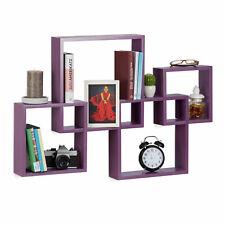 Relaxdays 10021807 131 Set 4 mensole da parete Cube legno MDF grandi (l7b)