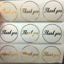 Stickers -  Thank You Stickers - Transparent with Gold Foil -Set of 50